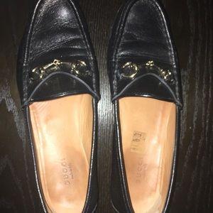 Gucci leather horsebit loafer black 37.5